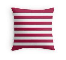 USA Flag Stripes Throw Pillow