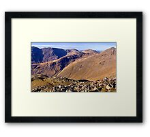 Scafell Pike, Esk Pike, and Bow Fell - The Lake District Framed Print