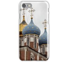 cross and gold stars on the church dome iPhone Case/Skin