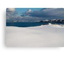 Royal Portrush Golf Club - 5th Green Under Snow Canvas Print