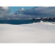 Royal Portrush Golf Club - 5th Green Under Snow Photographic Print
