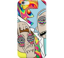 Rick and Morty Eyes Open Trip iPhone Case/Skin