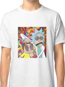Rick and Morty Eyes Open Trip Classic T-Shirt