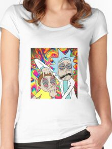 Rick and Morty Eyes Open Trip Women's Fitted Scoop T-Shirt