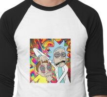 Rick and Morty Eyes Open Trip Men's Baseball ¾ T-Shirt