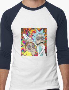 Rick and Morty Eyes Open Trip Men's Baseball ¾ T-Shirt