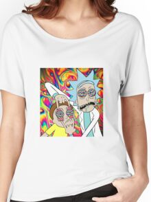 Rick and Morty Eyes Open Trip Women's Relaxed Fit T-Shirt