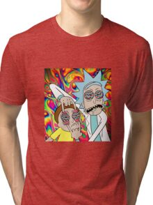 Rick and Morty Eyes Open Trip Tri-blend T-Shirt