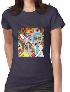 Rick and Morty Eyes Open Trip Womens Fitted T-Shirt