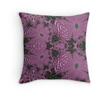 Violet Blooms Throw Pillow