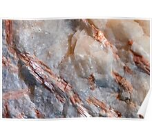 Dolomite in Calcite and Quartz Poster