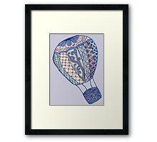 Hand Drawn Zentangle Hot Air Balloon! Framed Print