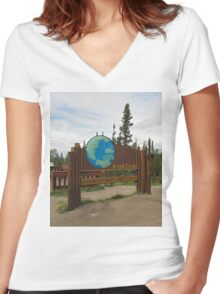 Arctic Circle Women's Fitted V-Neck T-Shirt