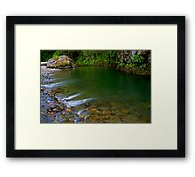 Emerald Waterscape Framed Print