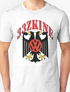 2 Headed Black Eagle Volkswagen style T-Shirt