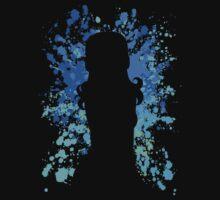 fairy tail juvia paint splatter anime manga shirt by ToDum2Lov3
