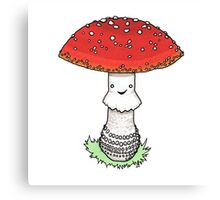 Classic toadstool Canvas Print