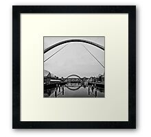 Arching time Framed Print