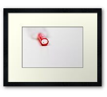 It is not easy, tying shoelaces.... when you can't find the other end... Framed Print