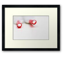 It is not easy, tying shoelaces.... even if you have both ends... Framed Print