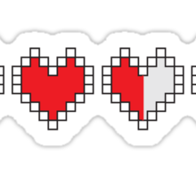 Heart Containers Sticker