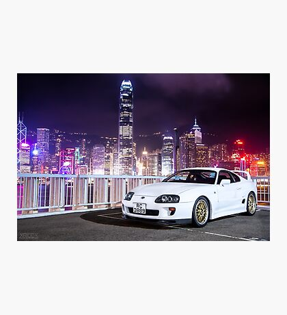 TOYOTA Supra in Hong Kong Photographic Print