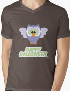 Sweet Owl Happy Halloween Mens V-Neck T-Shirt