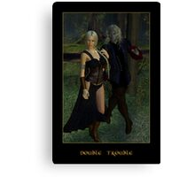Double Trouble (Mog & Damara) Canvas Print