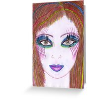 Make-up Model: Eyes Greeting Card