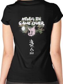 Never Be Game Over Women's Fitted Scoop T-Shirt