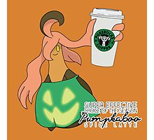 Pumpkaboo Spice Latte Photographic Print