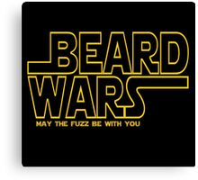 Beard Wars May The Fuzz Be With You Men's Funny Beard Sci-fi  Canvas Print