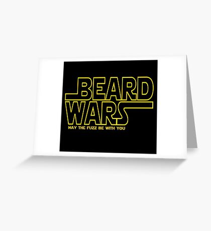 Beard Wars May The Fuzz Be With You Men's Funny Beard Sci-fi  Greeting Card