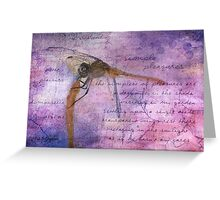 Simple Pleasures IV ~ The Dragonfly Greeting Card