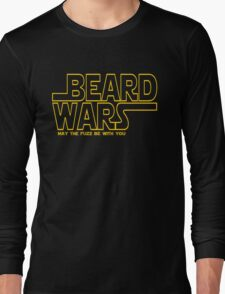 Beard Wars May The Fuzz Be With You Men's Funny Beard Sci-fi T-Shirt Long Sleeve T-Shirt