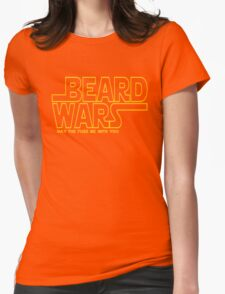 Beard Wars May The Fuzz Be With You Men's Funny Beard Sci-fi T-Shirt Womens Fitted T-Shirt