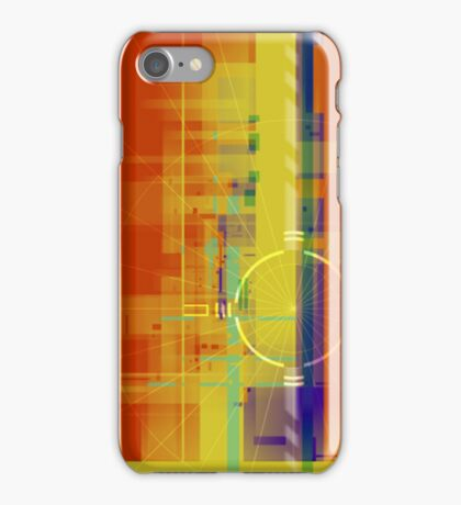 Abstract Art in Orange and Yellow iPhone Case/Skin