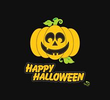 Jack O' Lantern Happy Halloween Womens Fitted T-Shirt
