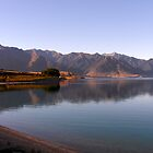 Lake Wanaka Sunset Reflection by JustLikeKat