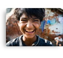Smiling boy Canvas Print