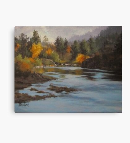 Fall at Colliding Rivers Canvas Print