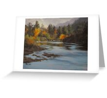 Fall at Colliding Rivers Greeting Card