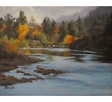 Fall at Colliding Rivers Photographic Print
