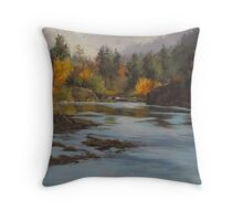 Fall at Colliding Rivers Throw Pillow