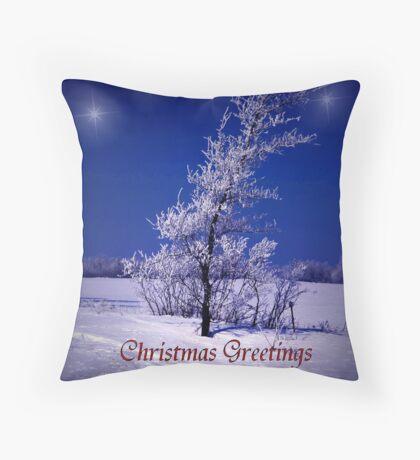 Christmas Greetings Across the Miles Throw Pillow