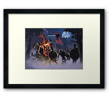 Count Vlad, the Blood Knight Framed Print