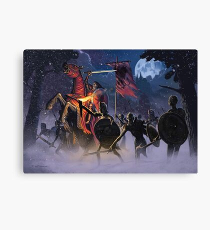 Count Vlad, the Blood Knight Canvas Print