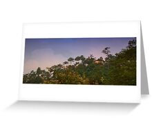 A cottage on the top of the Mountain Greeting Card