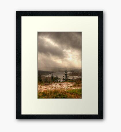 Scottish Highlands Portrait Framed Print