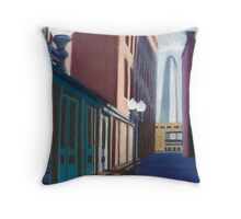 Alley View in pastel Throw Pillow